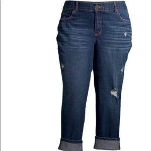 Women's Plus Size Boyfriend Jeans/confort Waist